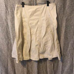 Gap Cream seamed skirt